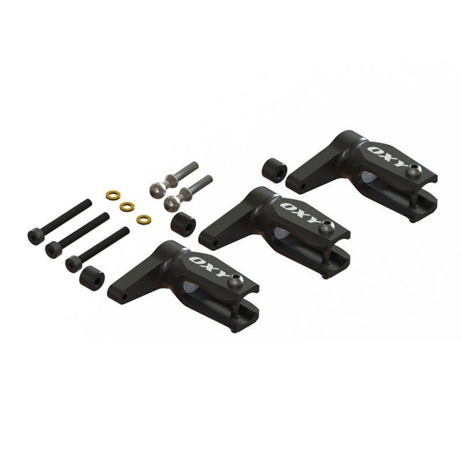 SP-OXY3-249 OXY3 - Pro Edition Main Grip- Black, 3Pcs-Set-Mad 4 Heli