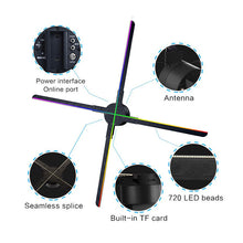 Load image into Gallery viewer, 56CM Advertising Fan 3d hologram led fan (Cross Type)