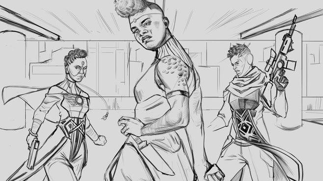 Comicbook/WWG - 'Swordsfall' Brings a New Gorgeous Afropunk World to Tabletop RPGs