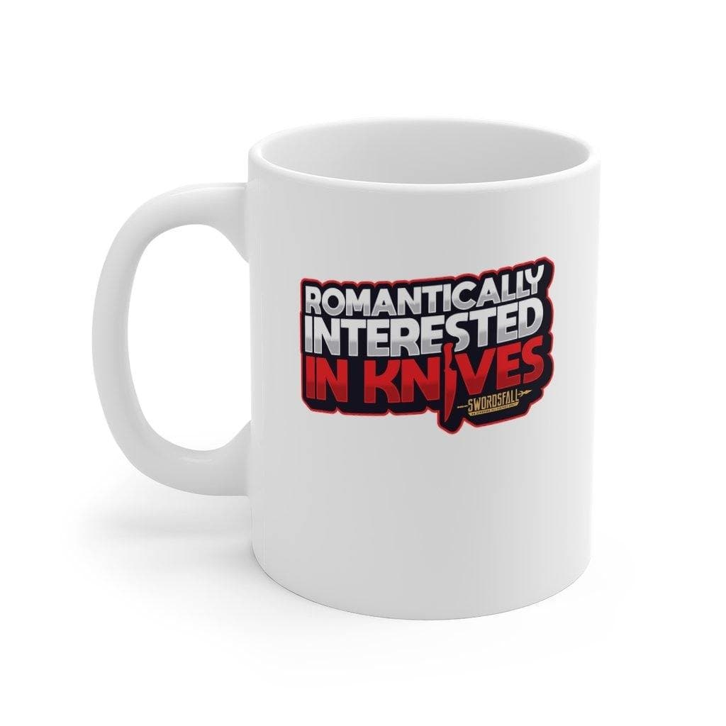 Romantically Interested in Knives Mug 11oz - Swordsfall