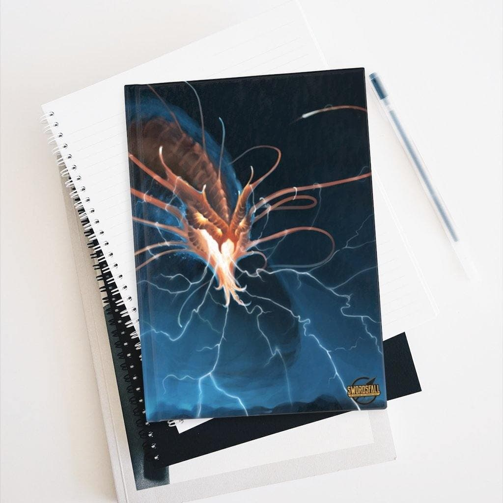 Inkyaban, the Immortal Storm Hardcover Journal (Ruled Line) - Swordsfall