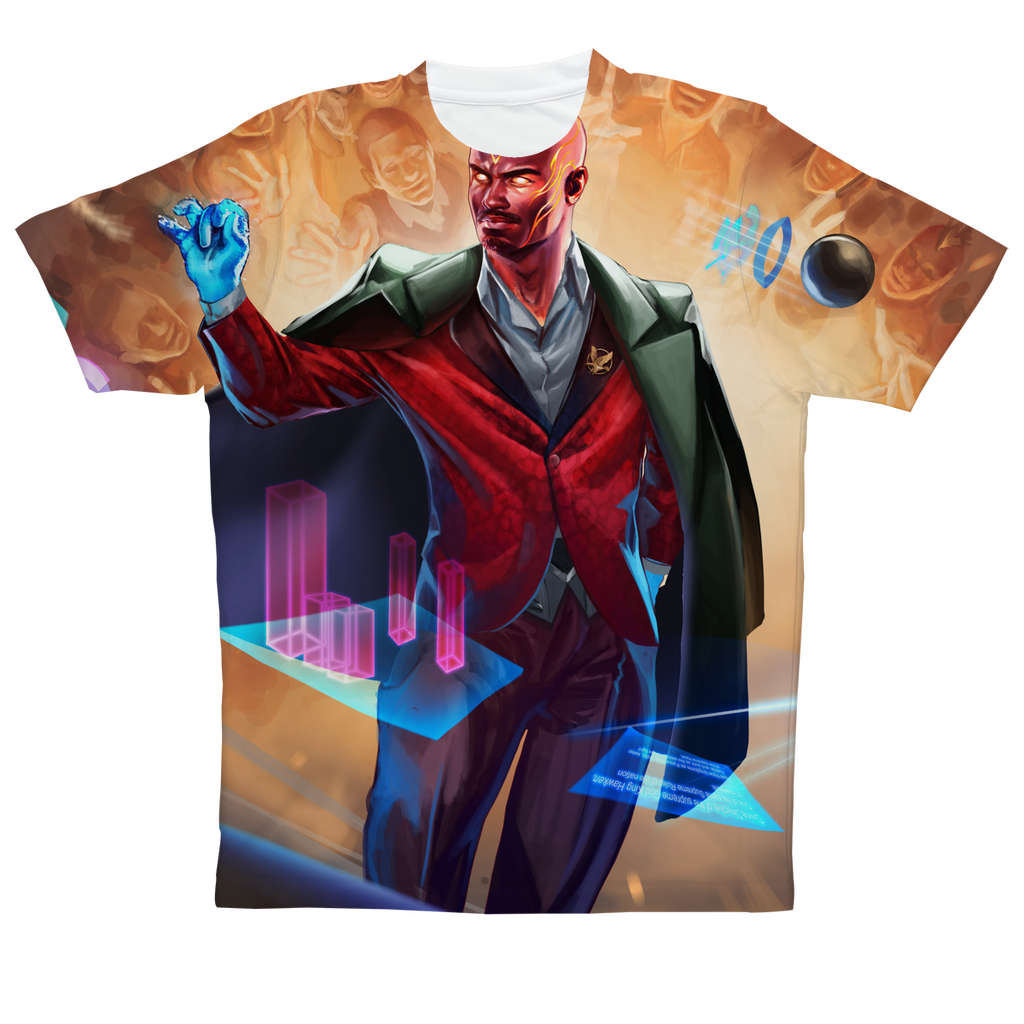Hawken Suit and Tie All Over Print Performance T-Shirt - Swordsfall