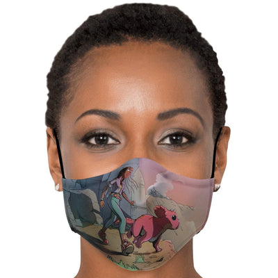 A Girl and Her Tritop Face Mask With Nose Clip