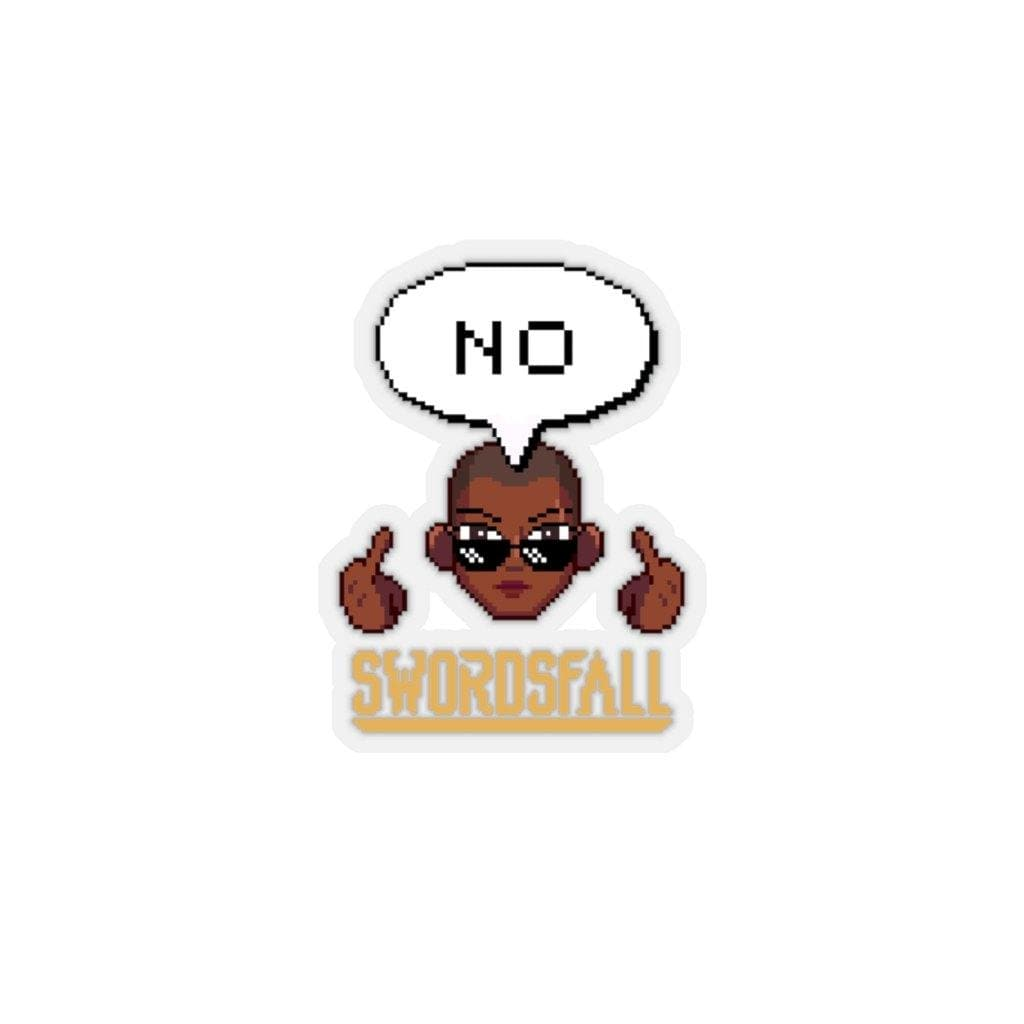 "Nubia ""No"" Translucent Kiss-Cut Stickers - Swordsfall"