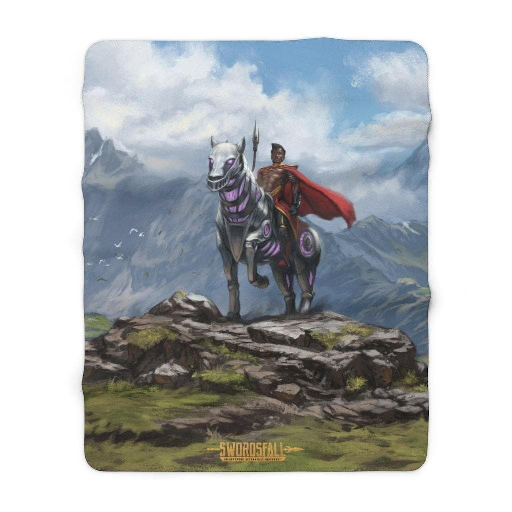 Abyssinian and Ryder Sherpa Fleece Blanket - Swordsfall