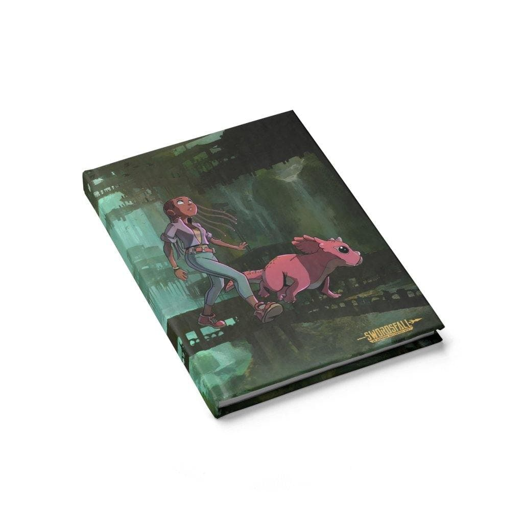 A Girl and her Tritop Hardcover Journal (Blank) - Swordsfall