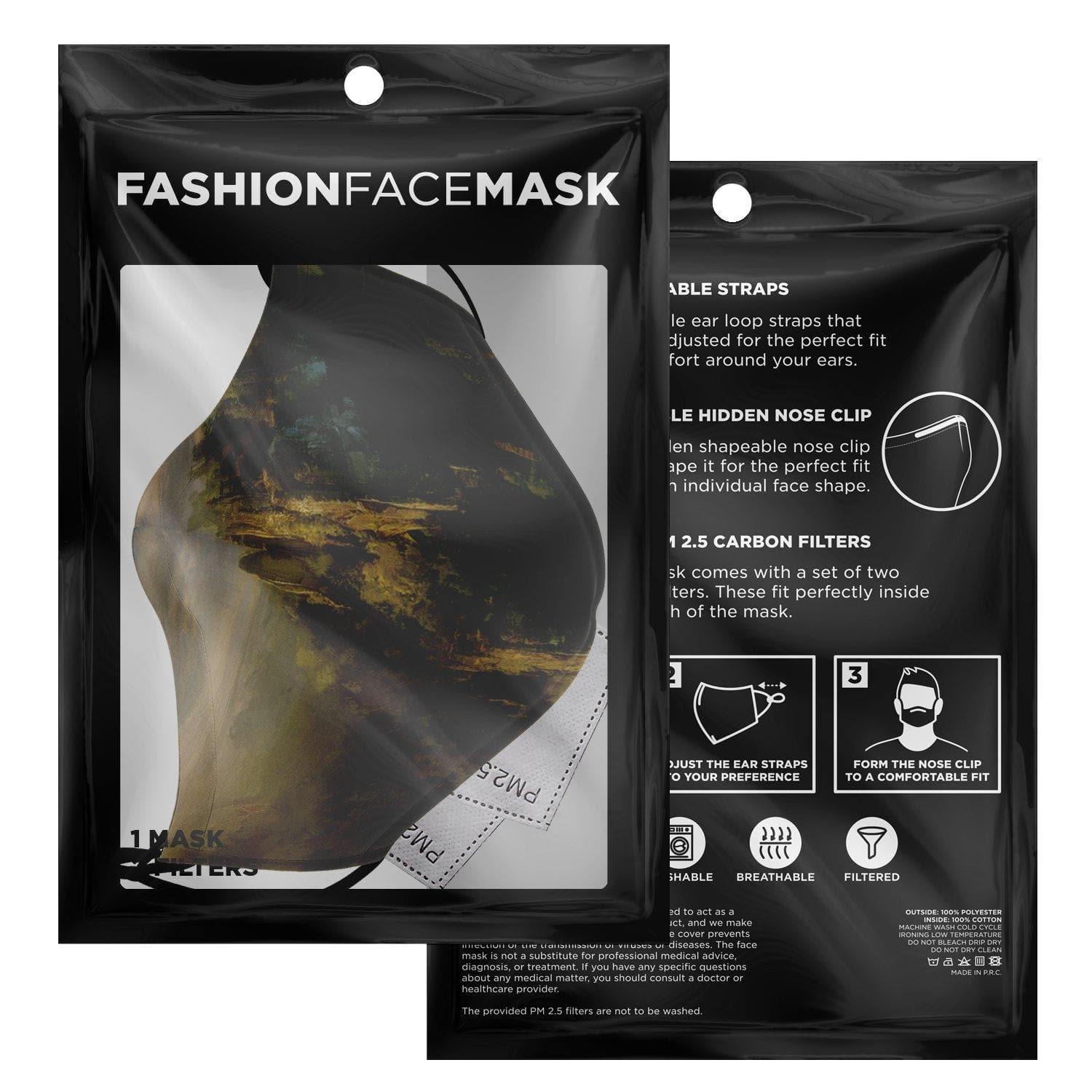 Garuda Rolling Stones Face Mask with Nose Clip - Swordsfall
