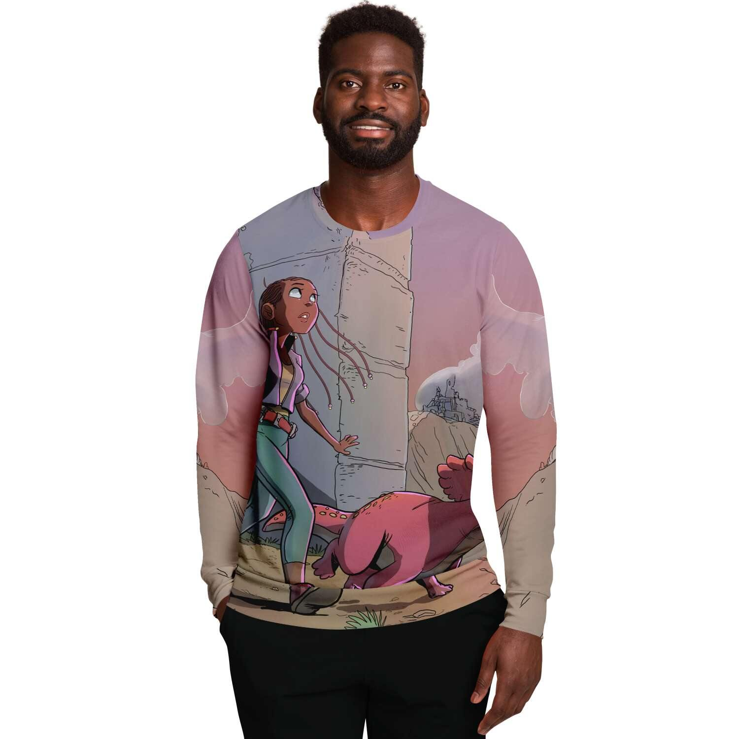 A Girl and Her Tritop Sweatshirt - Swordsfall