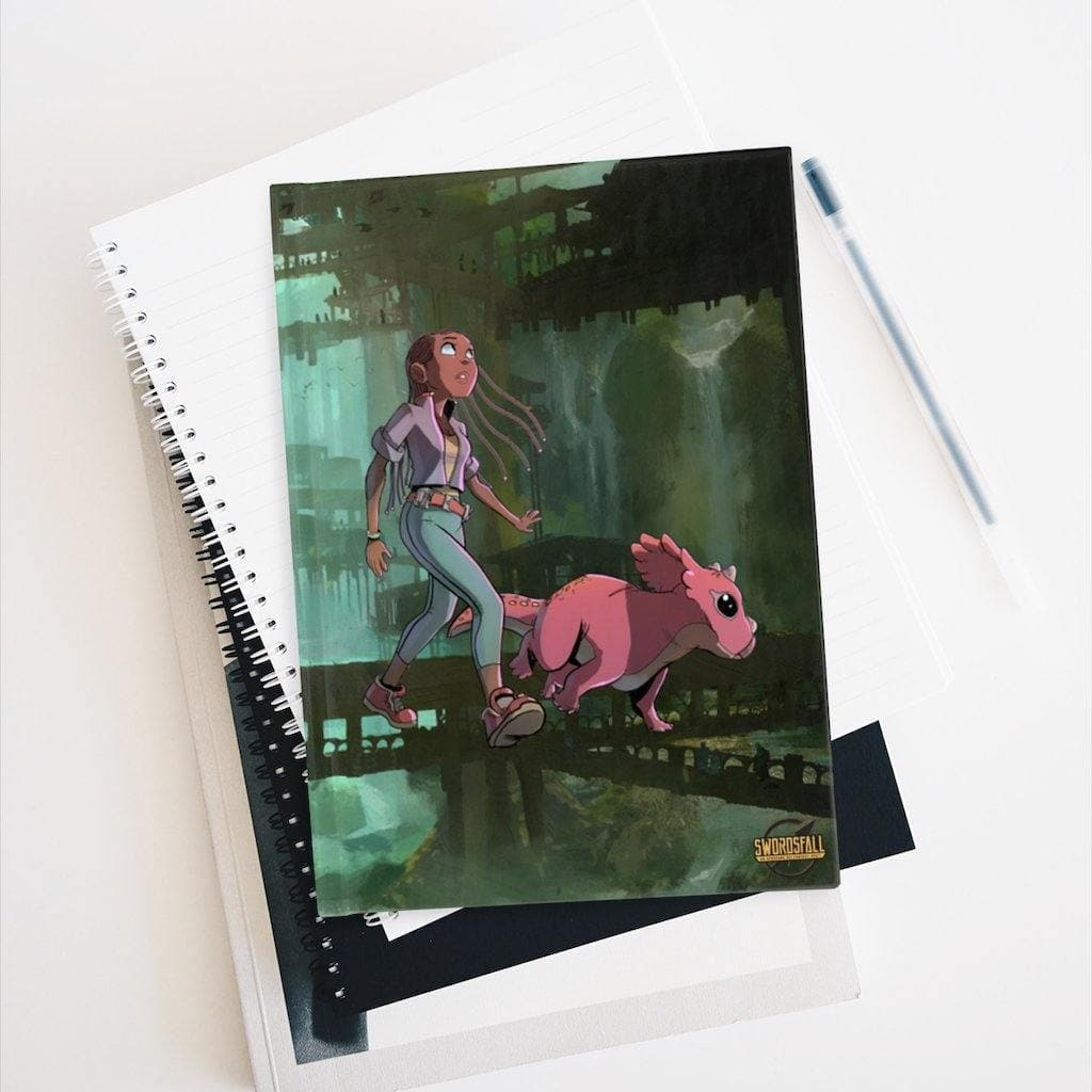 A Girl and her Tritop Hardcover Journal (Ruled Line) - Swordsfall