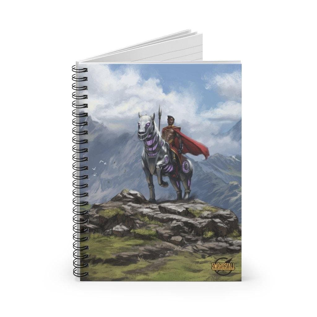 Abyssinian and Ryder Spiral Notebook (Ruled Line) - Swordsfall