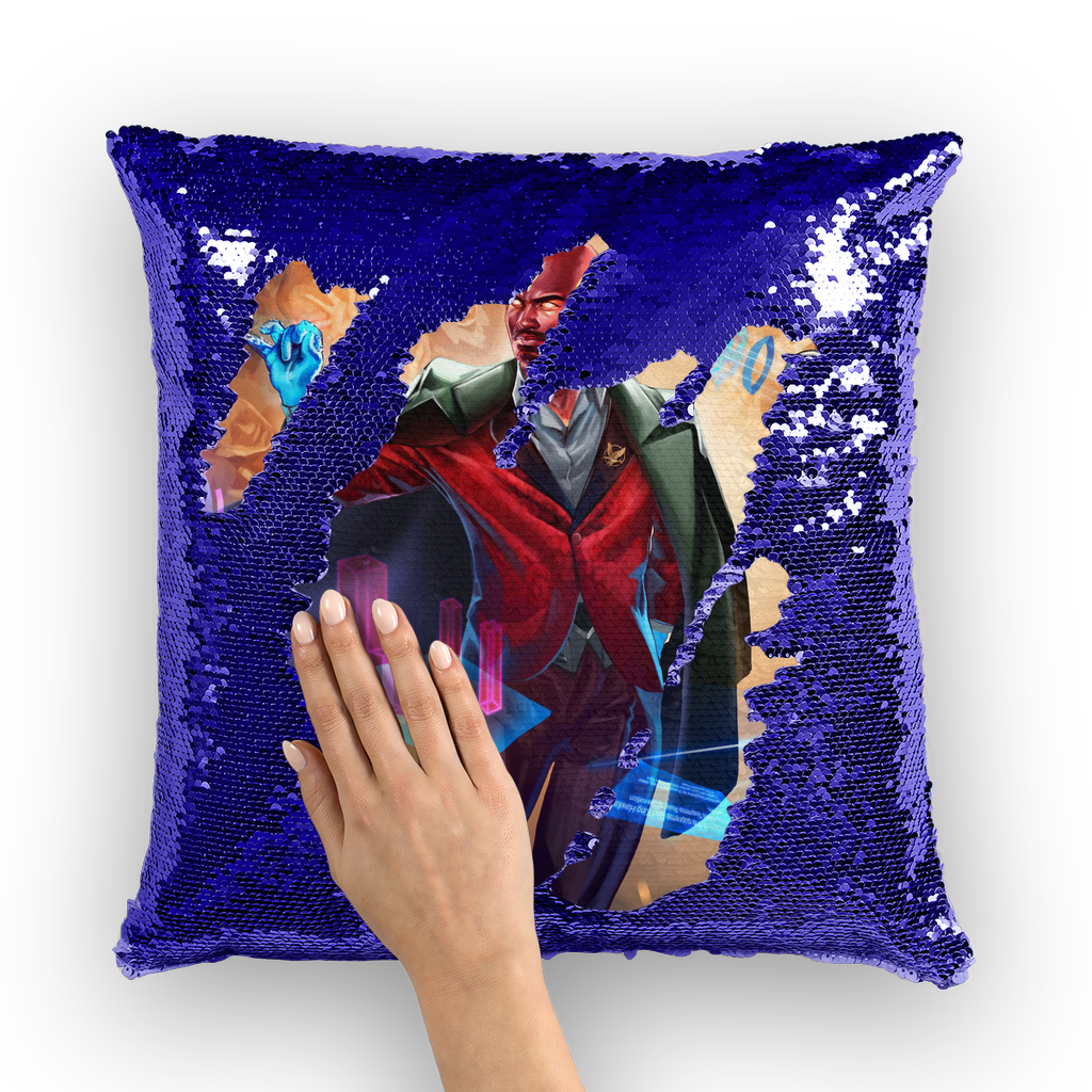 Hawken Suit and Tie Sequin Cushion Cover - Swordsfall
