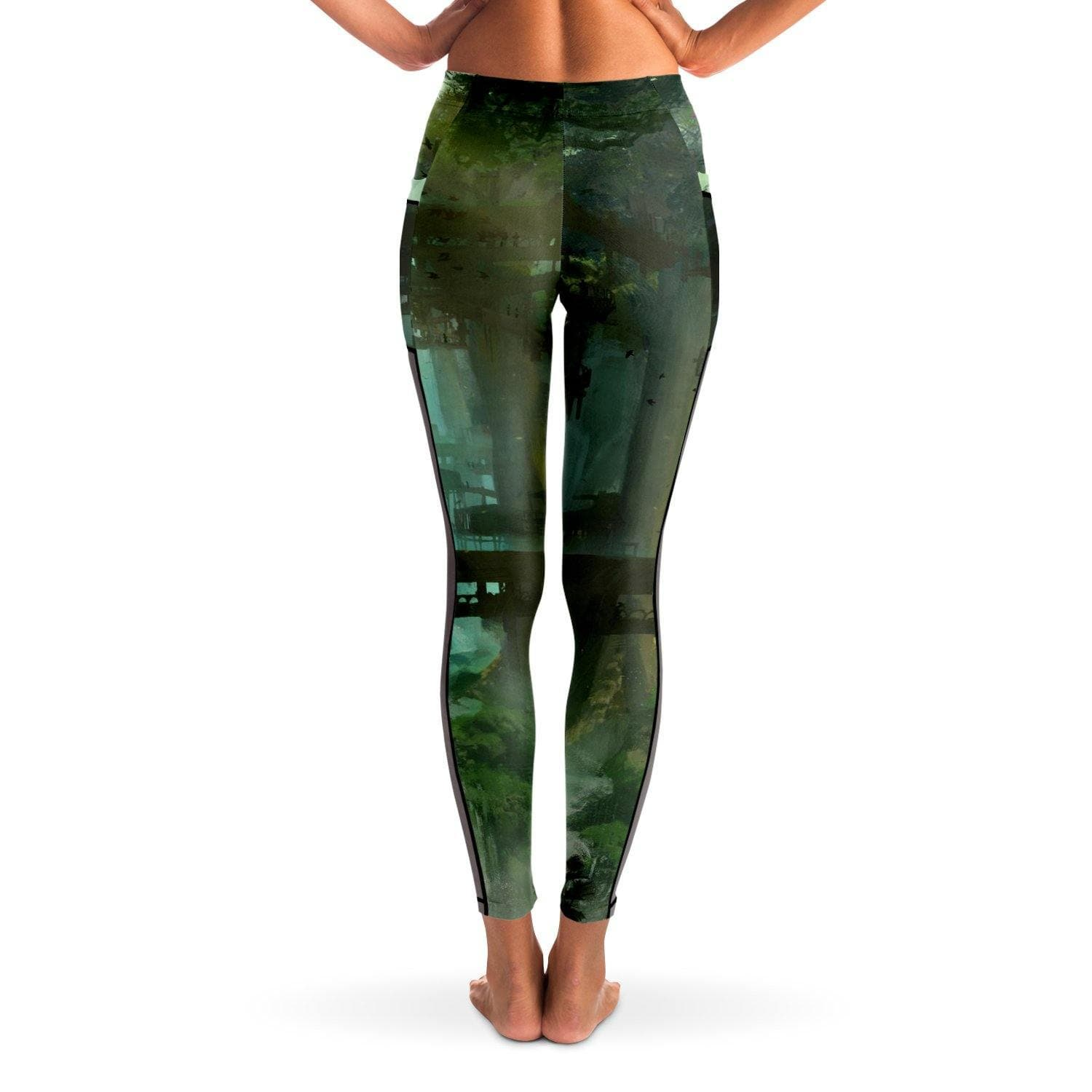 Garuda Waterfalls Mesh Pocket Leggings - Swordsfall