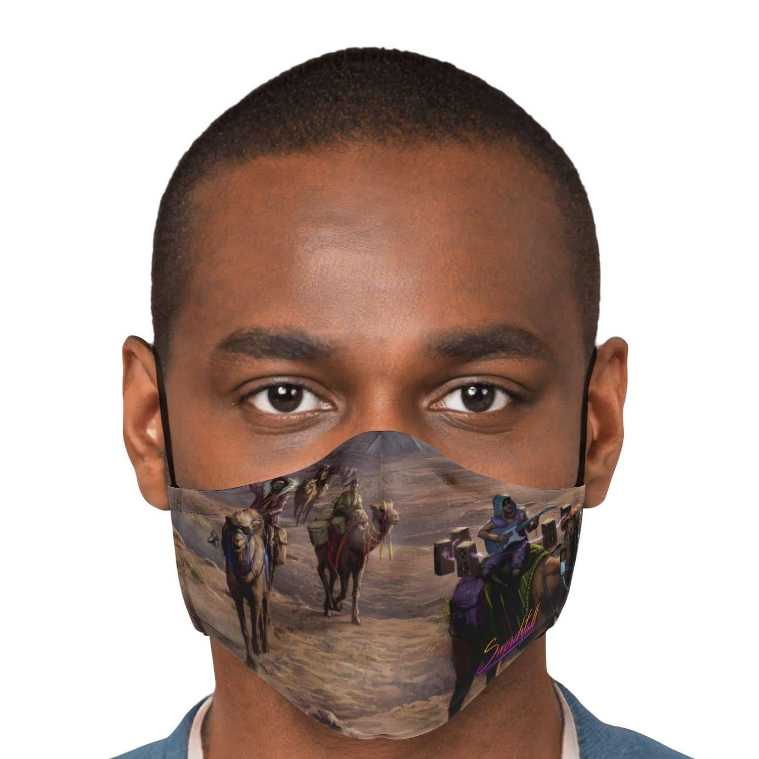 Wanderer Griots Travel through Vinyata Face Mask with Nose Clip - Swordsfall