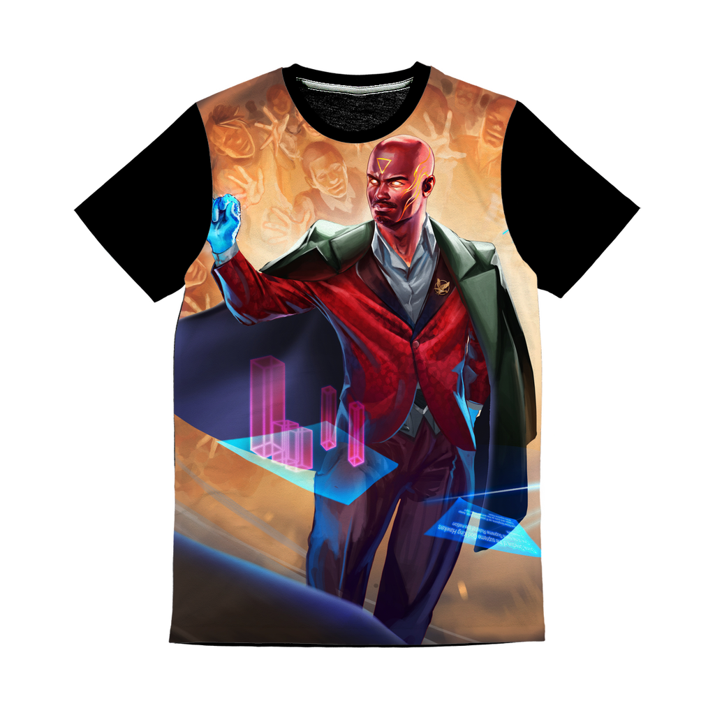Hawken Suit and Tie All Over Print Panel T-Shirt - Swordsfall