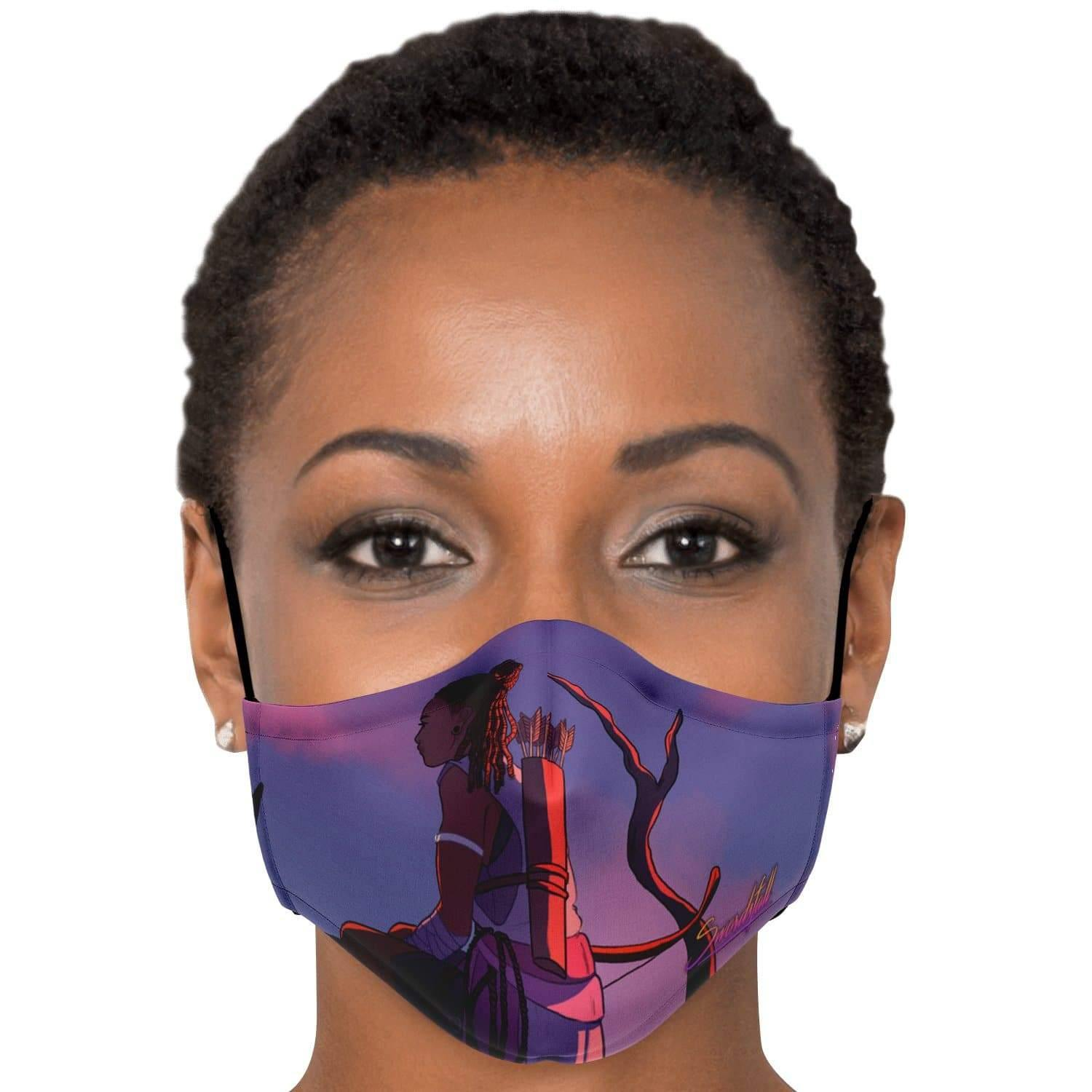A Watcher on the Wall Face Mask with Nose Clip - Swordsfall