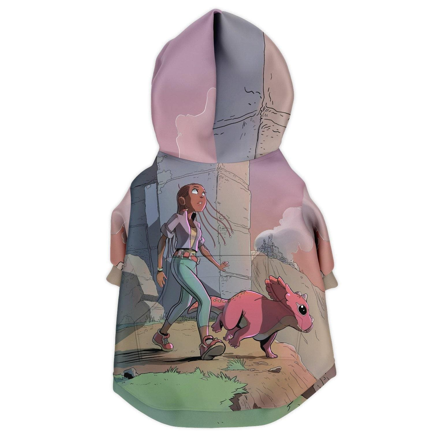 A Girl and her Tritop Dog Zip-Up Hoodie - Swordsfall