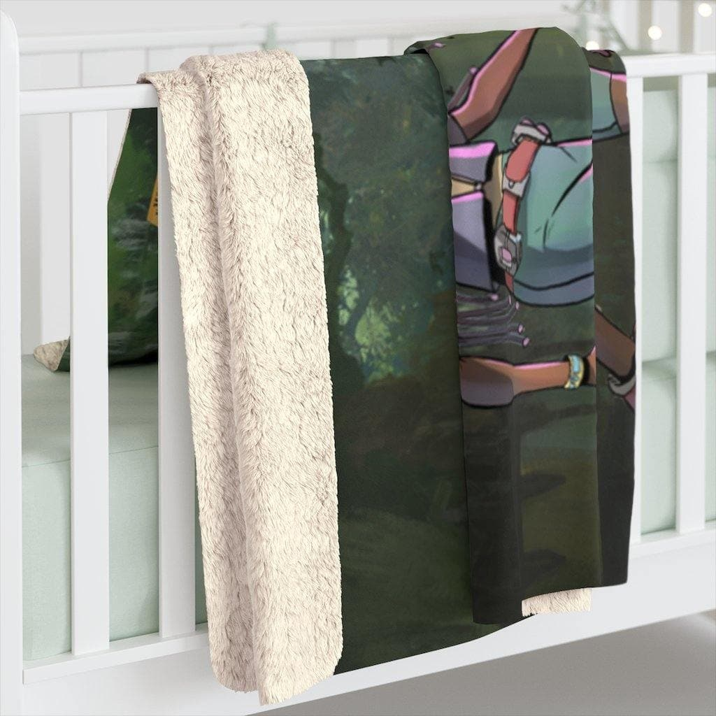 A Girl and her Tritop Sherpa Fleece Blanket - Swordsfall