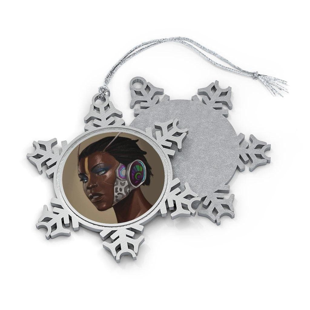 Minos Portrait Pewter Snowflake Ornament - Swordsfall
