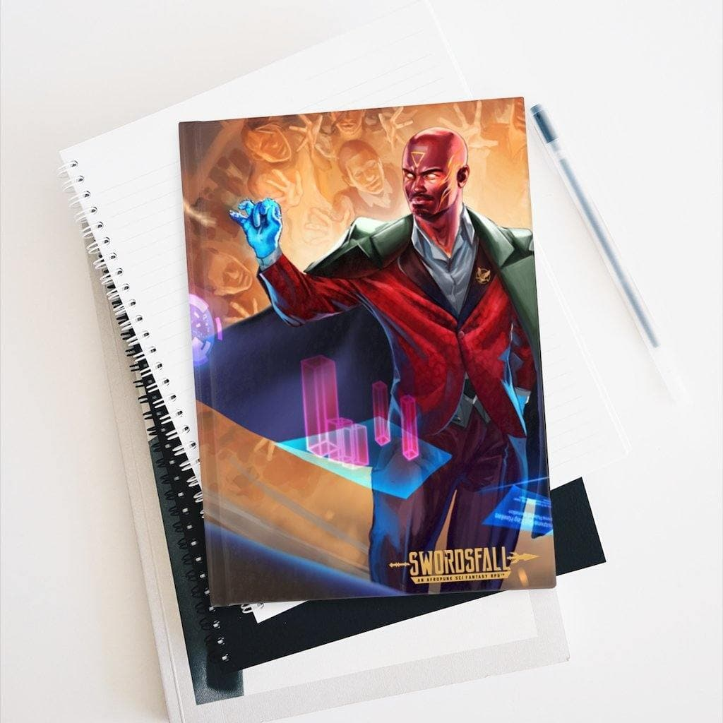 Hawken Suit and Tie Hardcover Journal (Blank) - Swordsfall