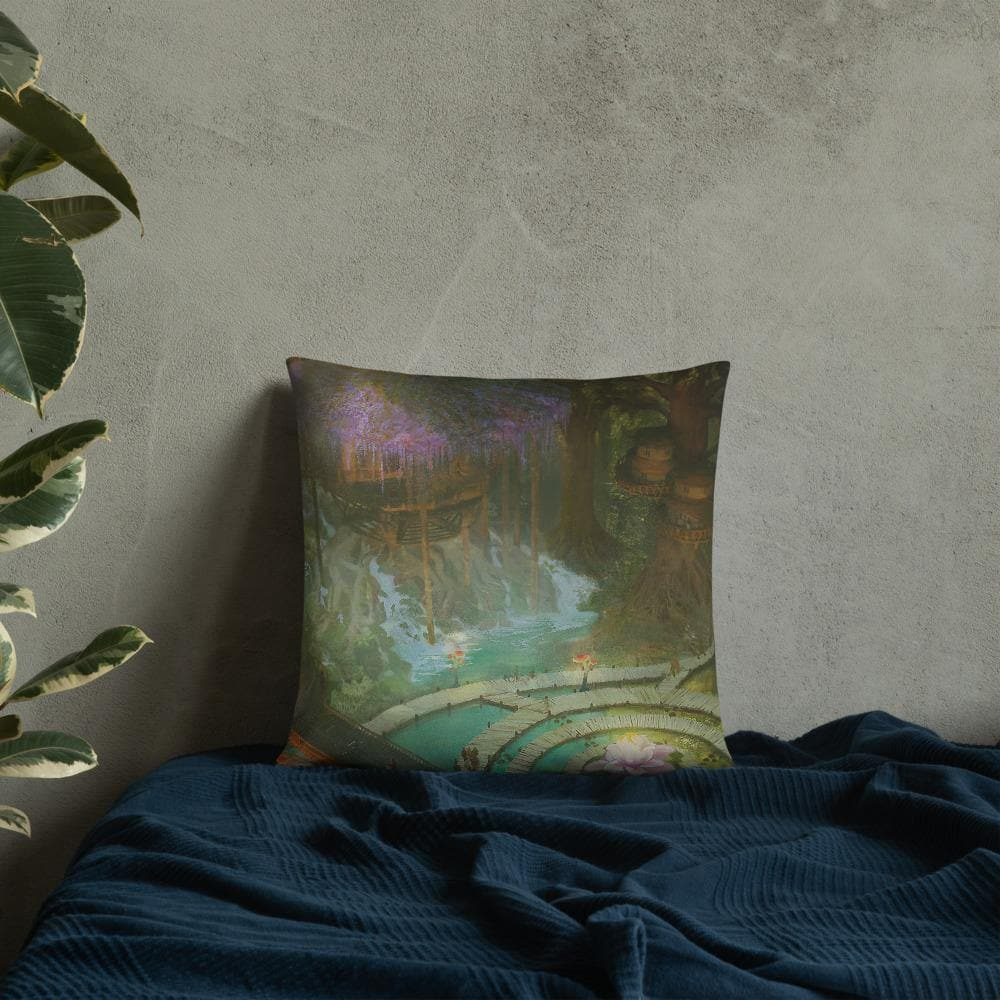 Garuda Forest City Pillow - Swordsfall