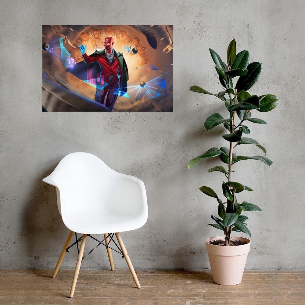 Hawken Suit and Tie Art Print - Swordsfall
