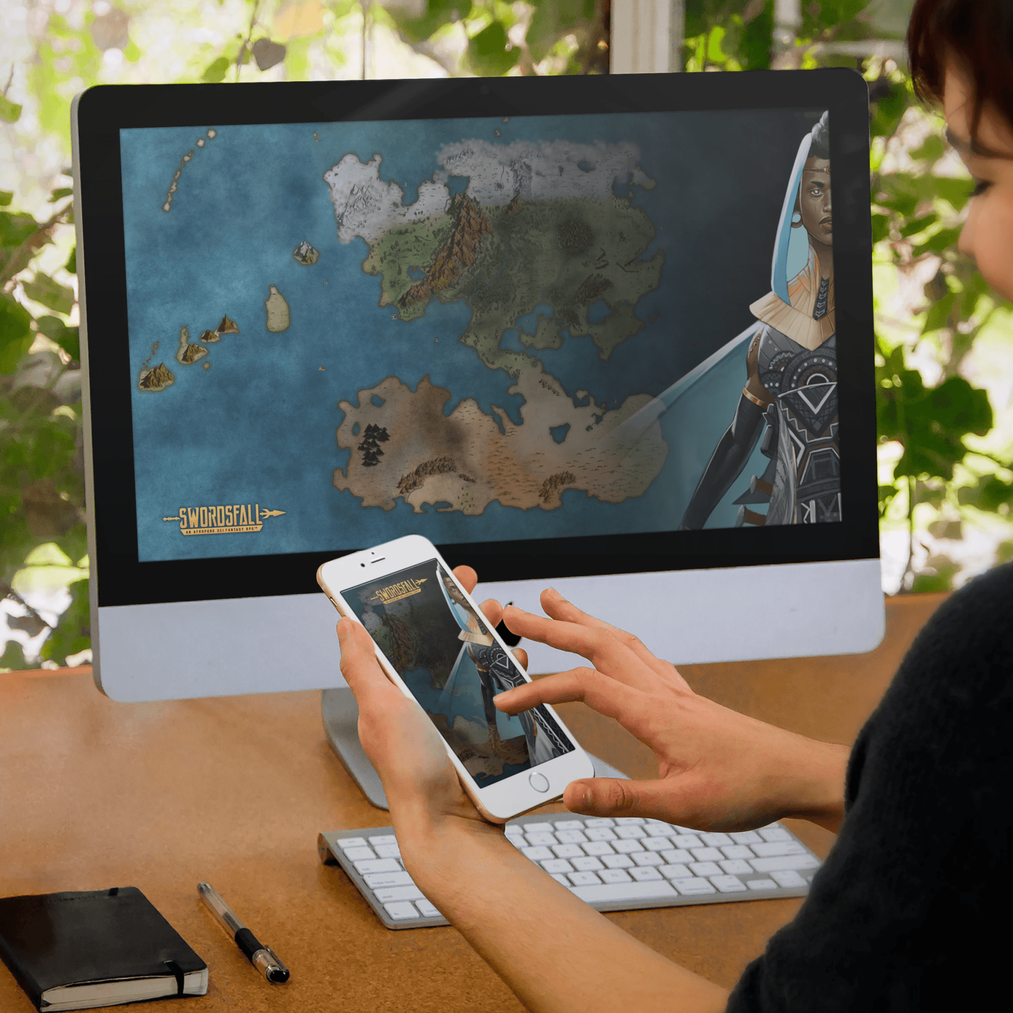 Isola Map Wallpaper Set - Swordsfall
