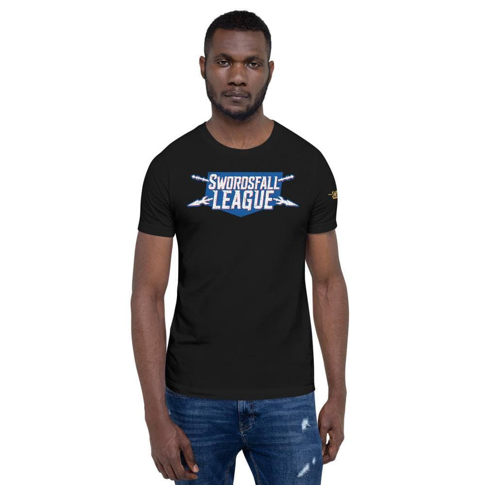 Swordsfall League (Distressed) Premium T-Shirt - Swordsfall
