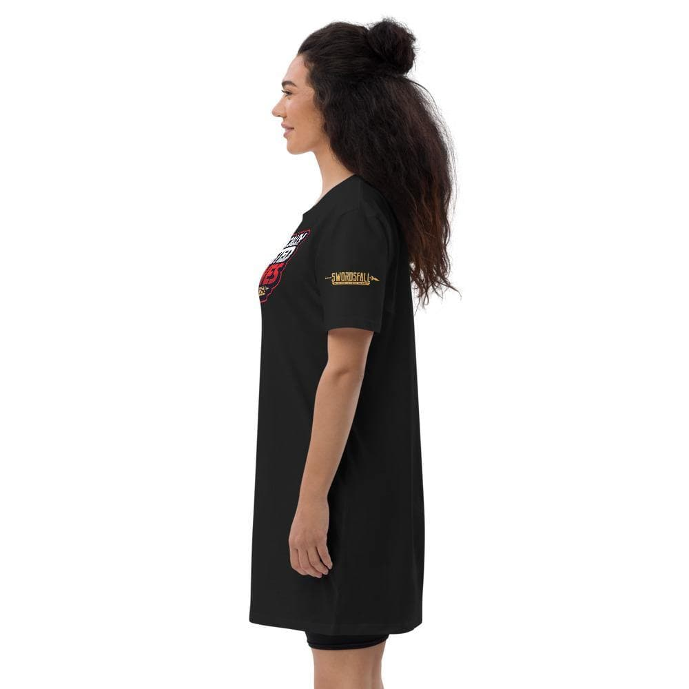 Romantically Interested In Knives T-shirt Dress - Swordsfall