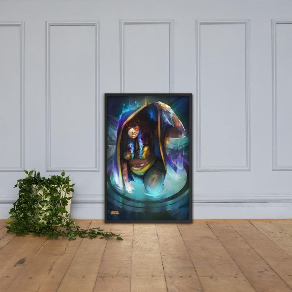 The Seeker in the Tapestry Framed Poster - Swordsfall