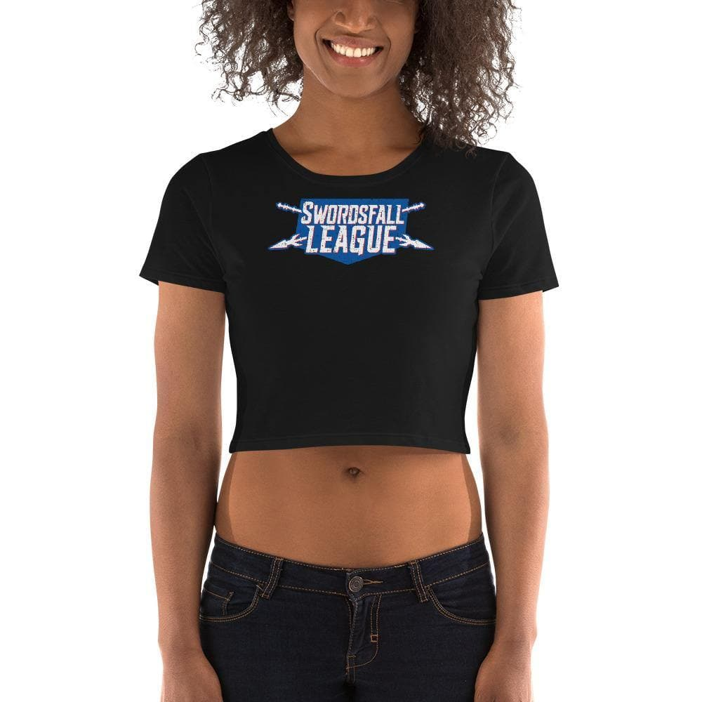 Swordsfall League (Distressed) Crop Tee - Swordsfall
