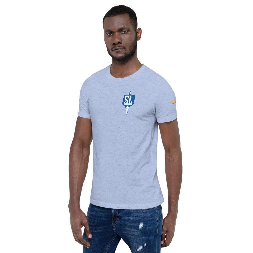 Swordsfall League (Distressed Emblem) Premium T-Shirt - Swordsfall
