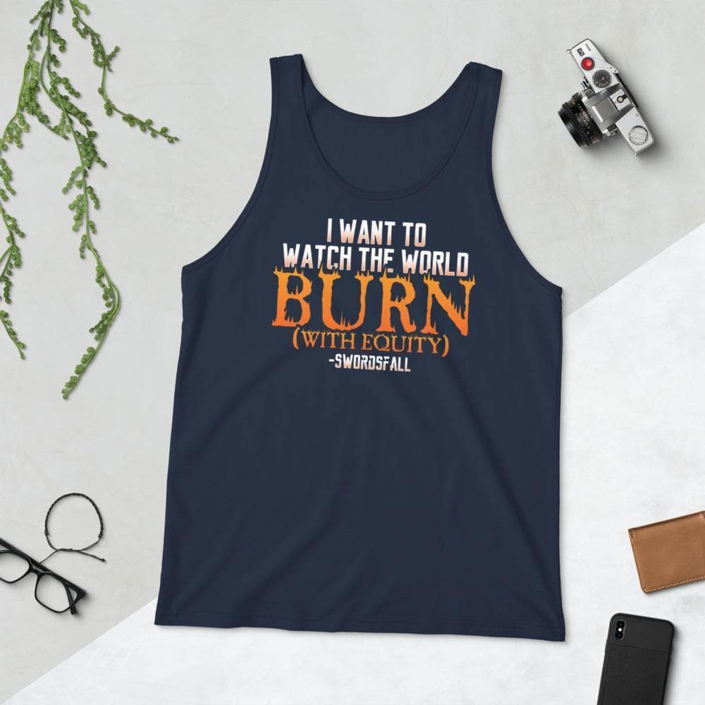 Burn With Equity Tank Top - Swordsfall