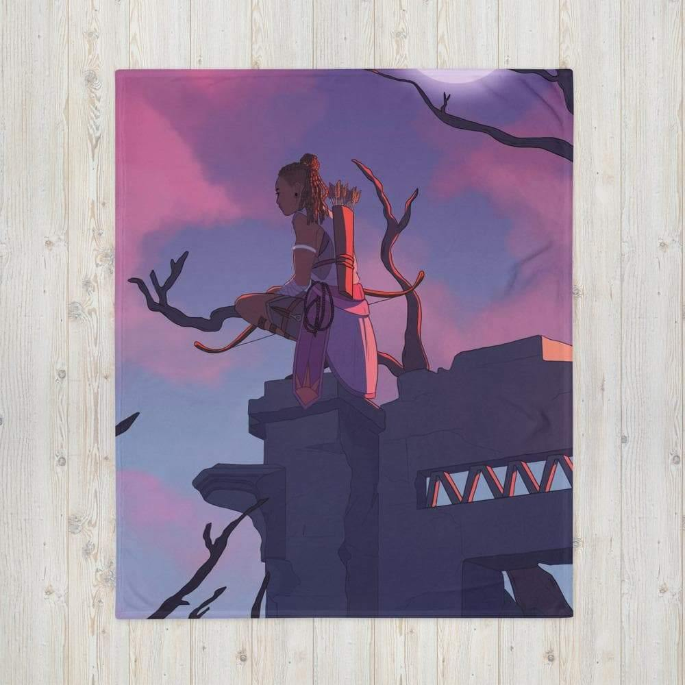 A Watcher in the Night Throw Blanket - Swordsfall