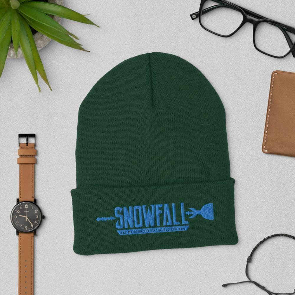 Snowfall (Let Me Describe The World To You) Cuffed Beanie - Swordsfall