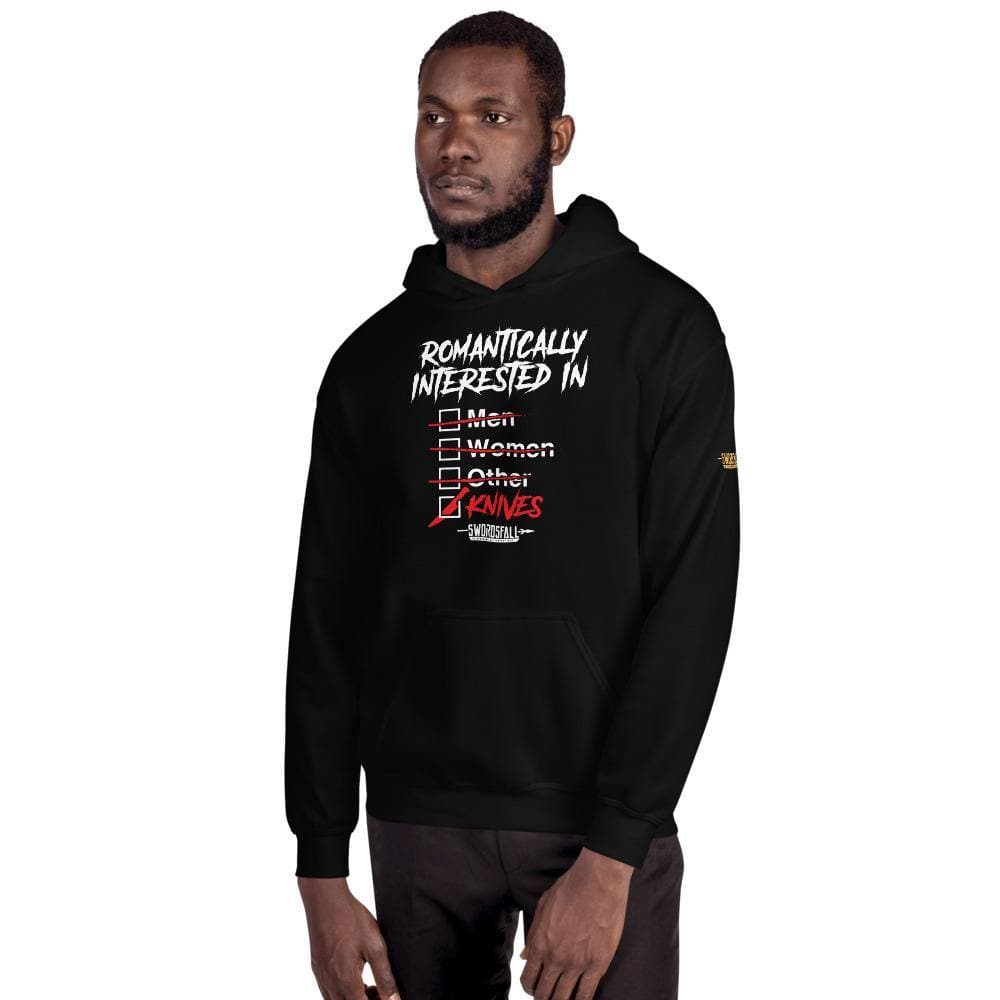 Romantically Interested in Knives (Checklist) Hoodie - Swordsfall