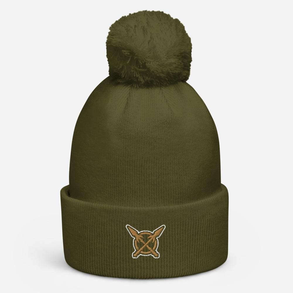 Swordsfall Emblem (Crossed Spears) Pom Pom Beanie - Swordsfall