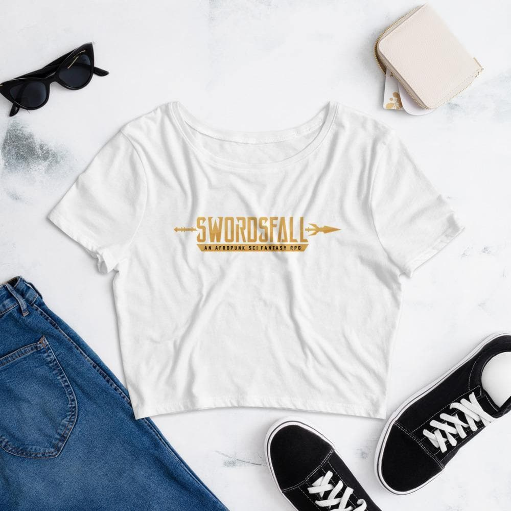 Swordsfall Gold Logo Crop Top - Swordsfall