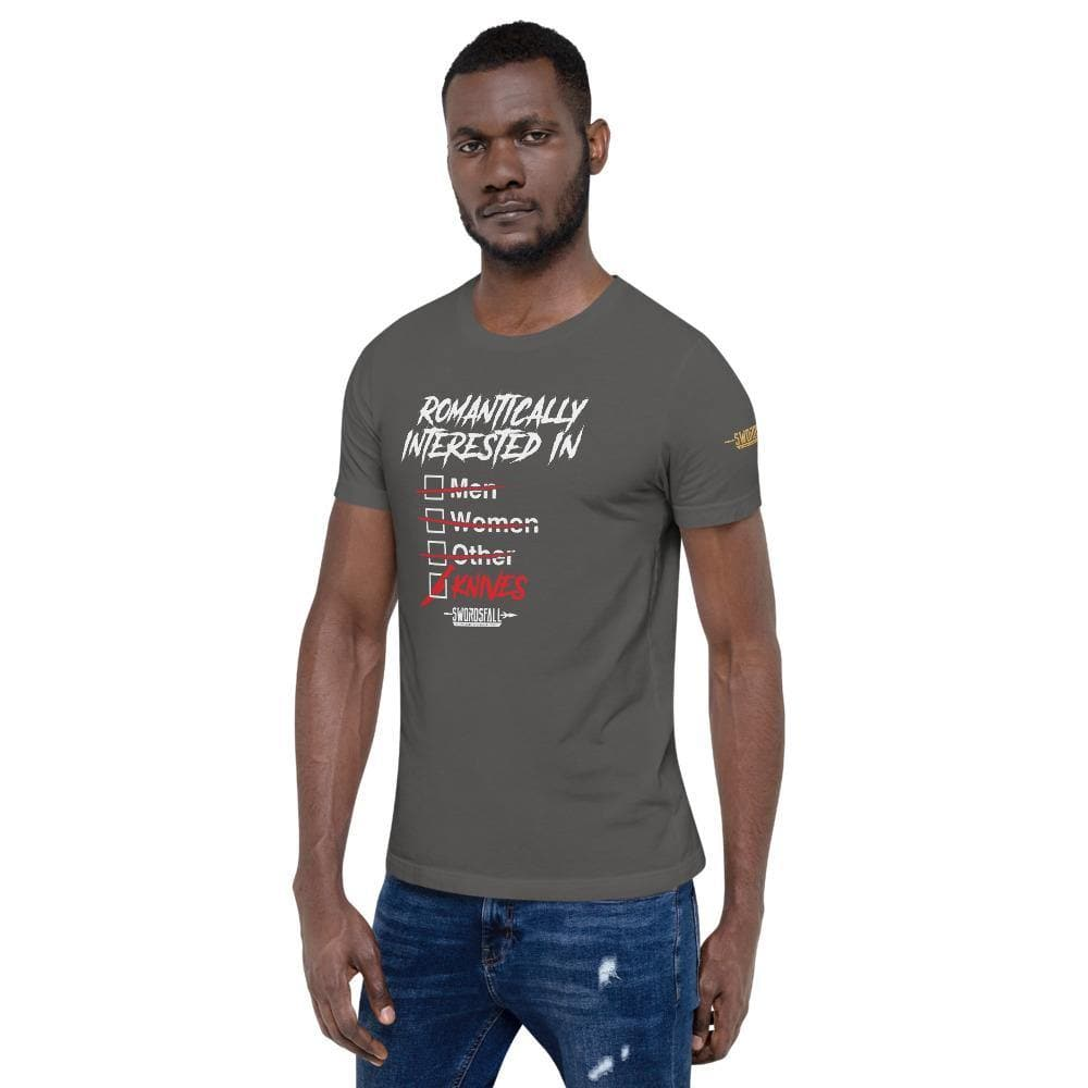 Romantically Interested in Knives (Checklist) Premium T-Shirt - Swordsfall