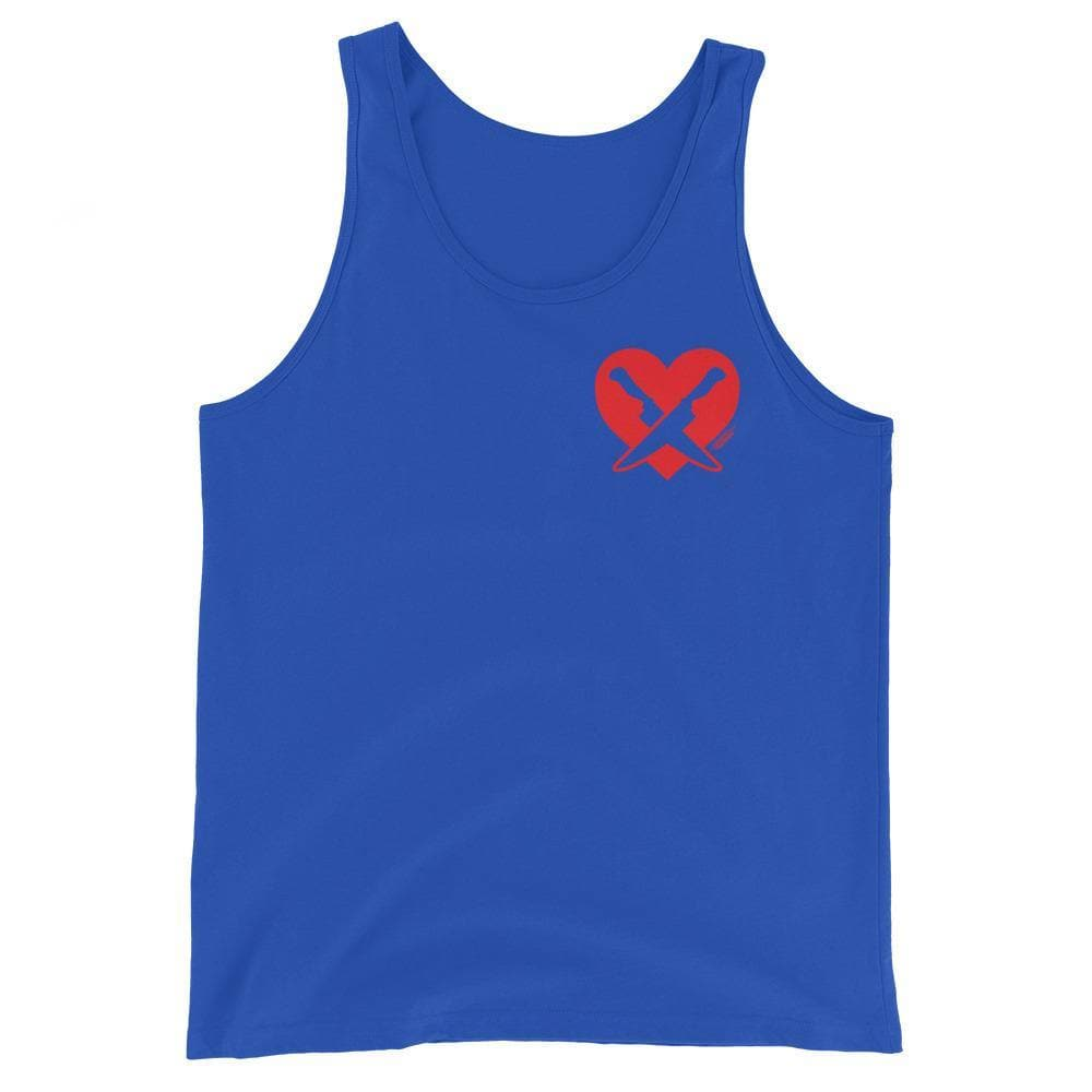 Romantically Interested in Knives (Heart Knives) Tank Top - Swordsfall