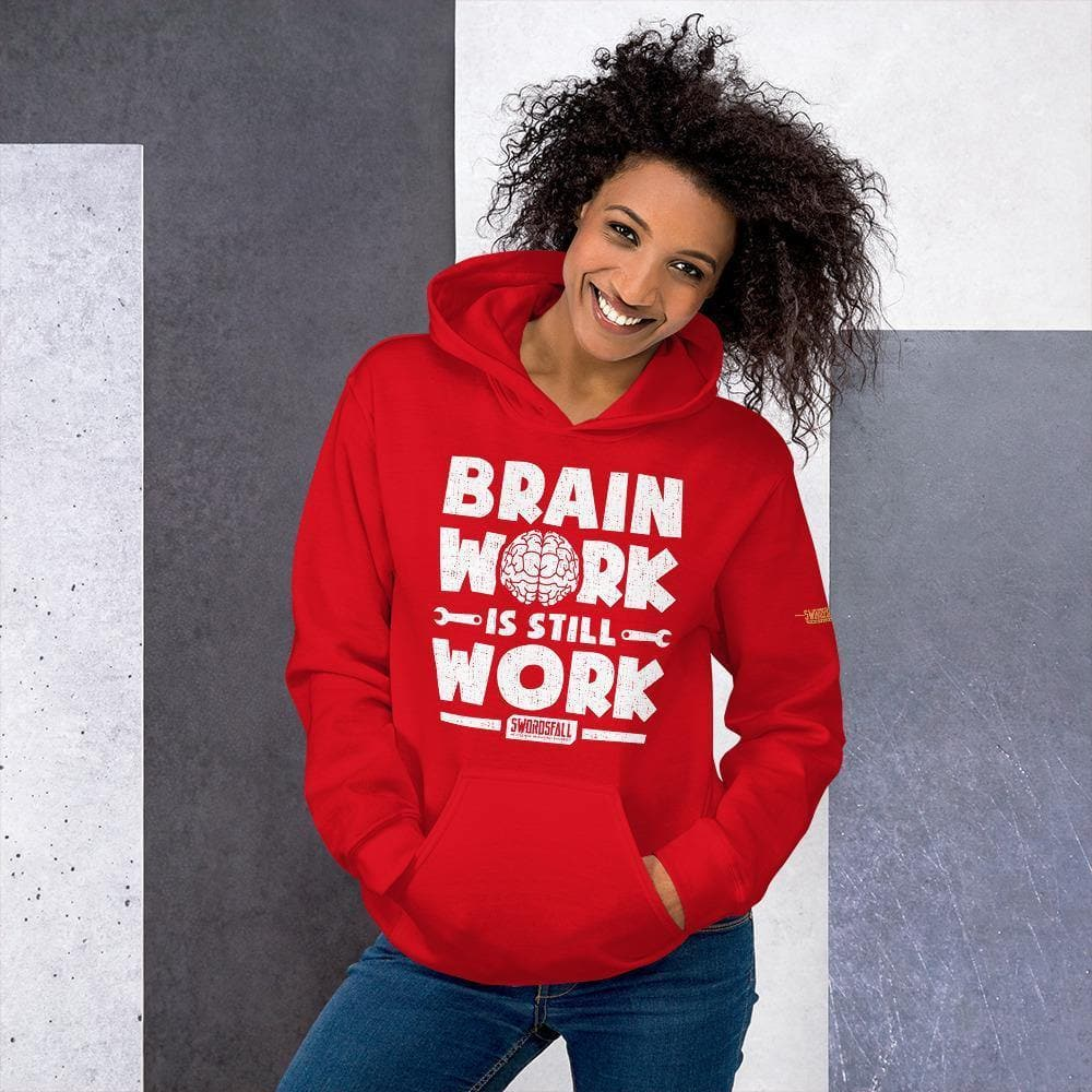 """Brain Work is Still Work"" Premium Hoodie - Swordsfall"