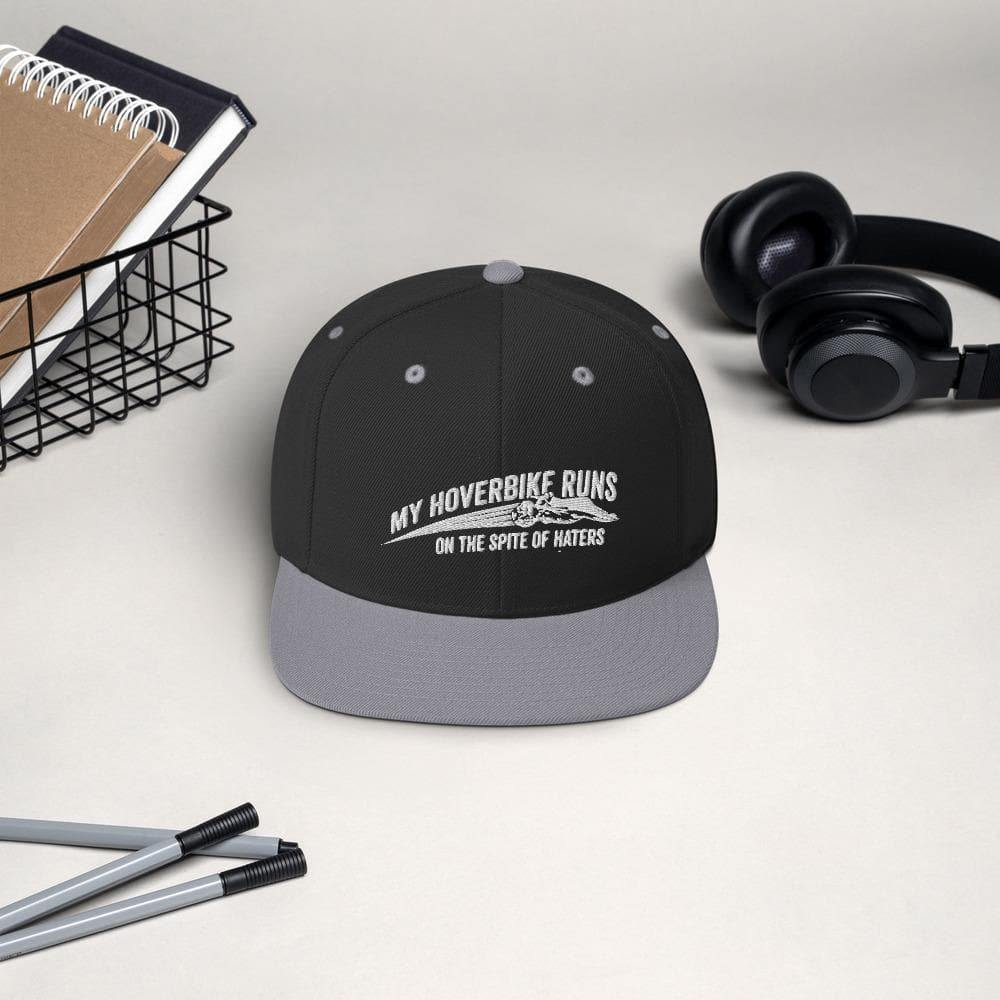 """My Hoverbike Runs on the Spite of Haters"" Quote Snapback Hat - Swordsfall"