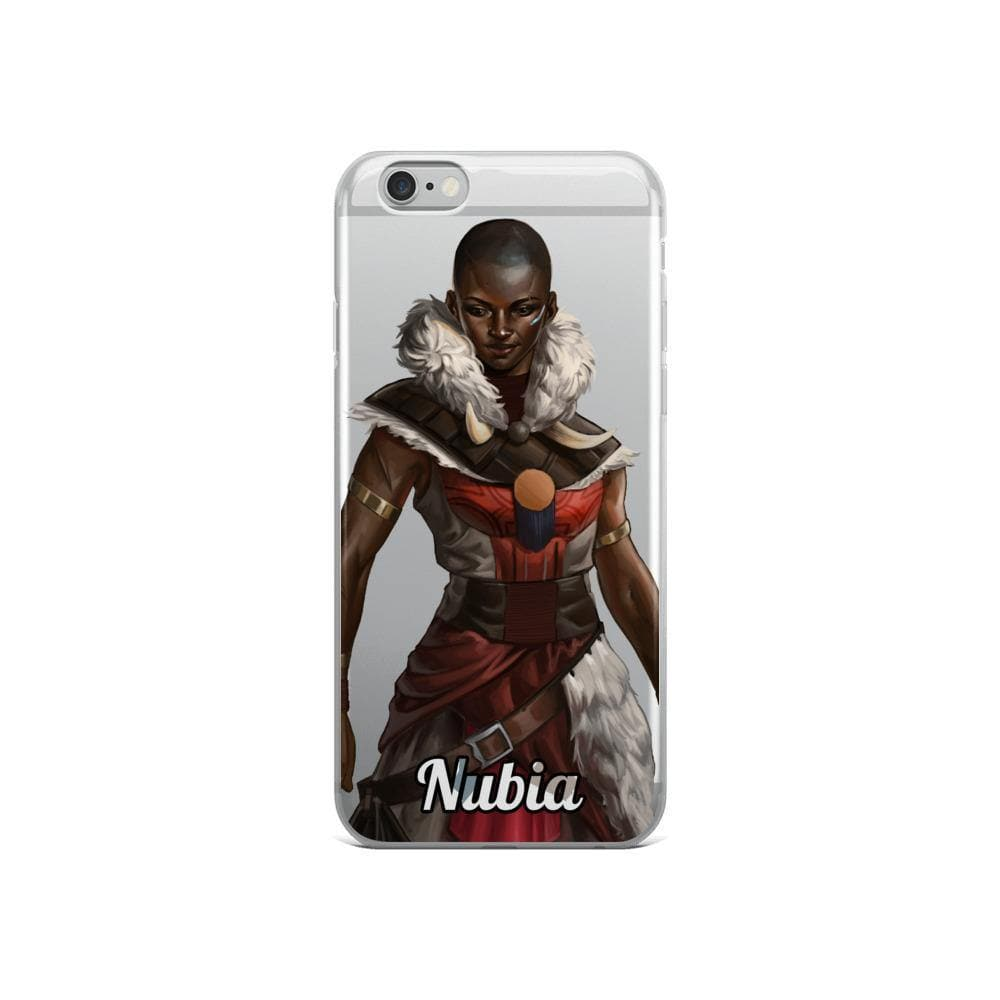 Nubia (Full Portrait) Clear iPhone Case - Swordsfall