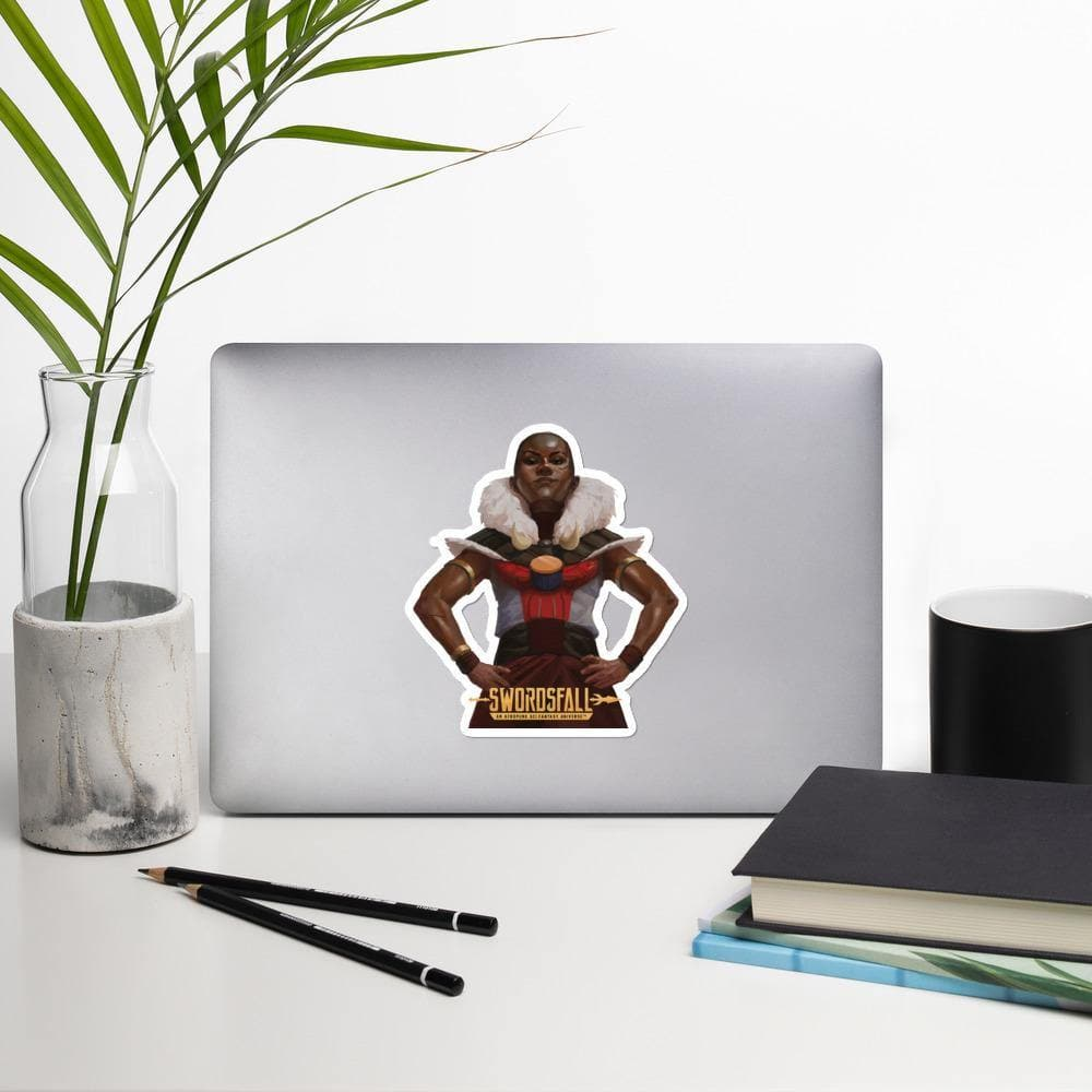 Nubia (Victory Pose) Stickers - Swordsfall
