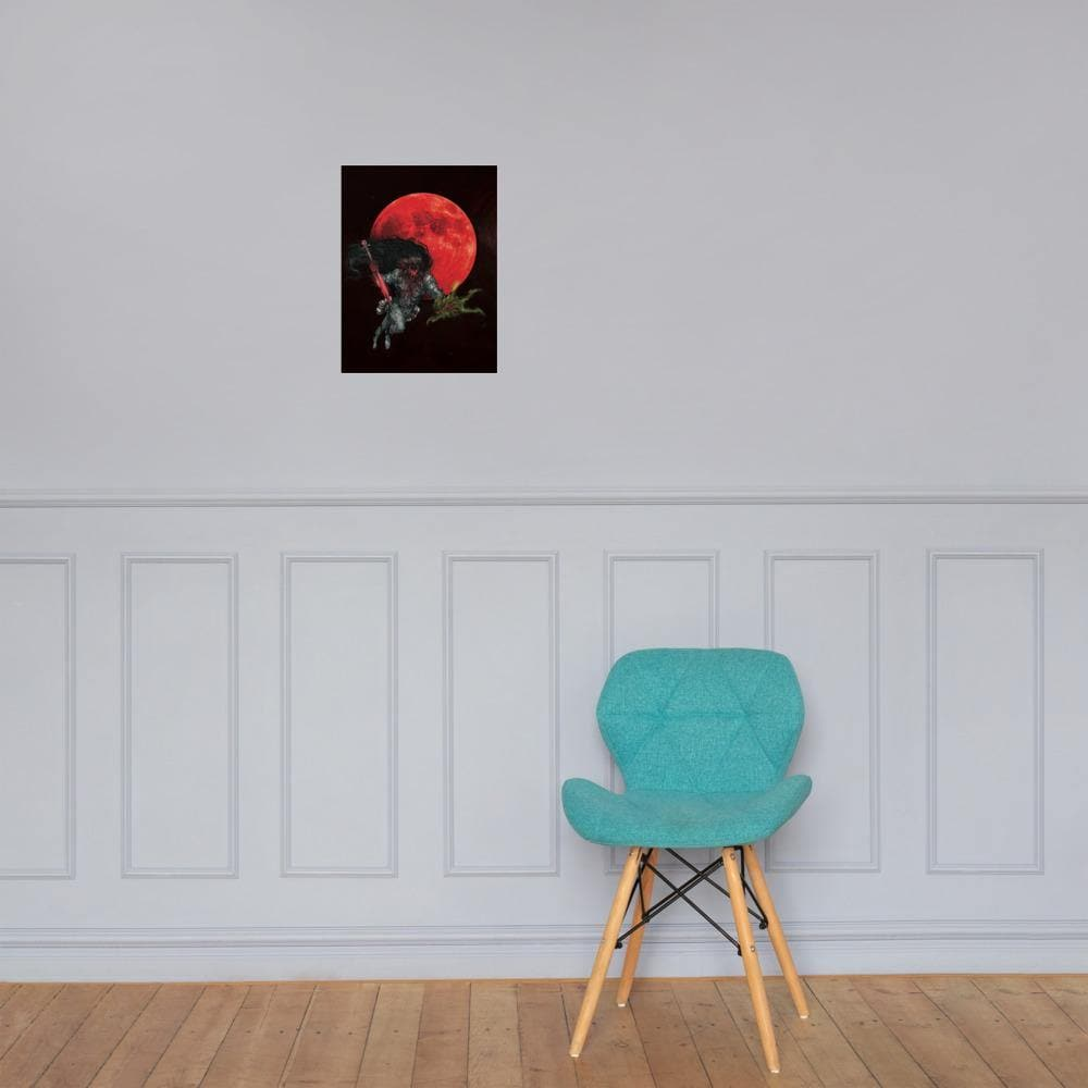 Raksha Under a Blood Moon Art Print - Swordsfall