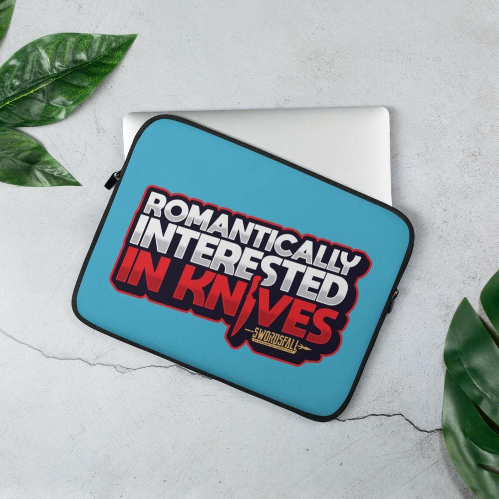 Romantically Interested in Knives Laptop Sleeve - Swordsfall