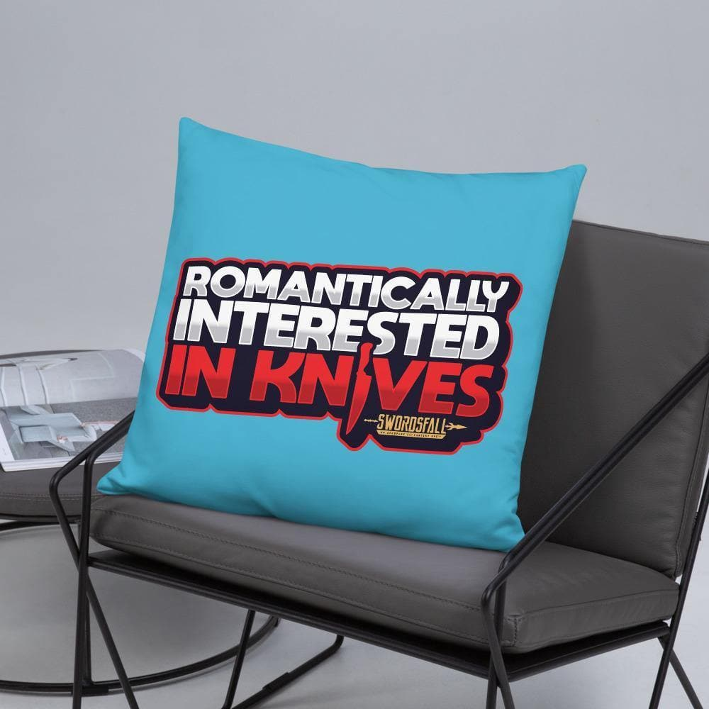 Romantically Interested in Knives Pillow - Swordsfall