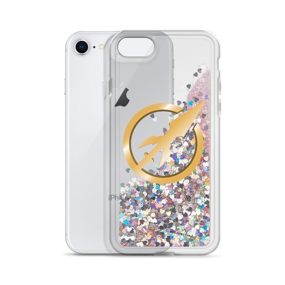 Swordsfall Symbol Liquid Glitter iPhone Case - Swordsfall