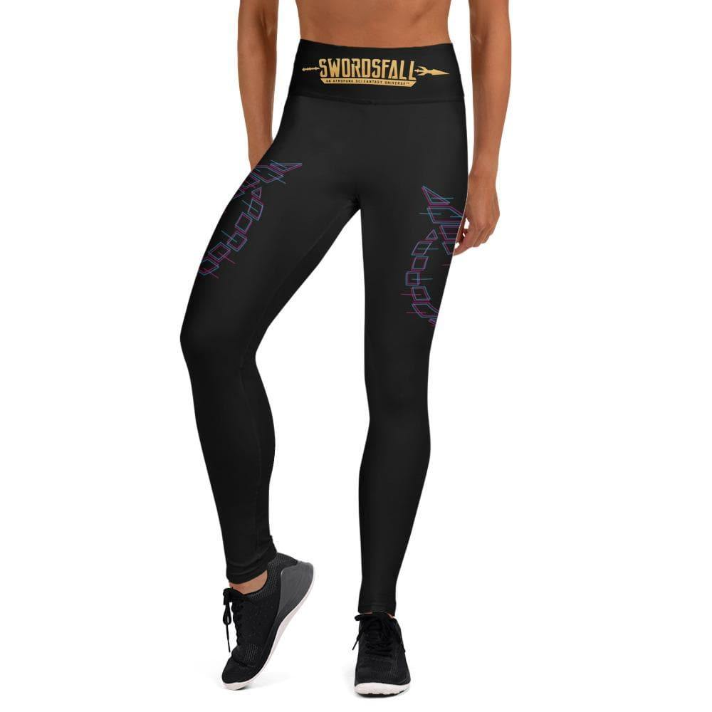 Swordsfall Synthwave Yoga Leggings - Swordsfall