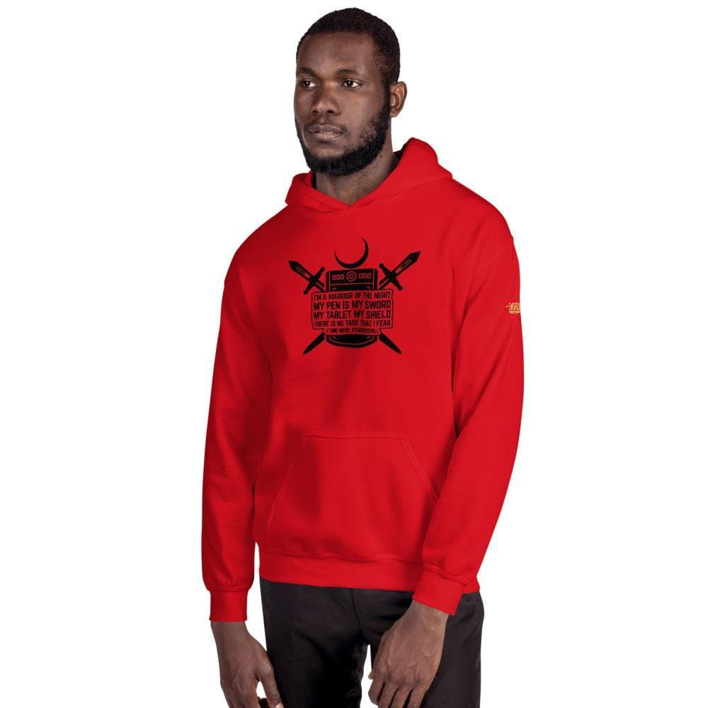 Warrior of the Night Quote (Black Lettering) Premium Hoodie - Swordsfall
