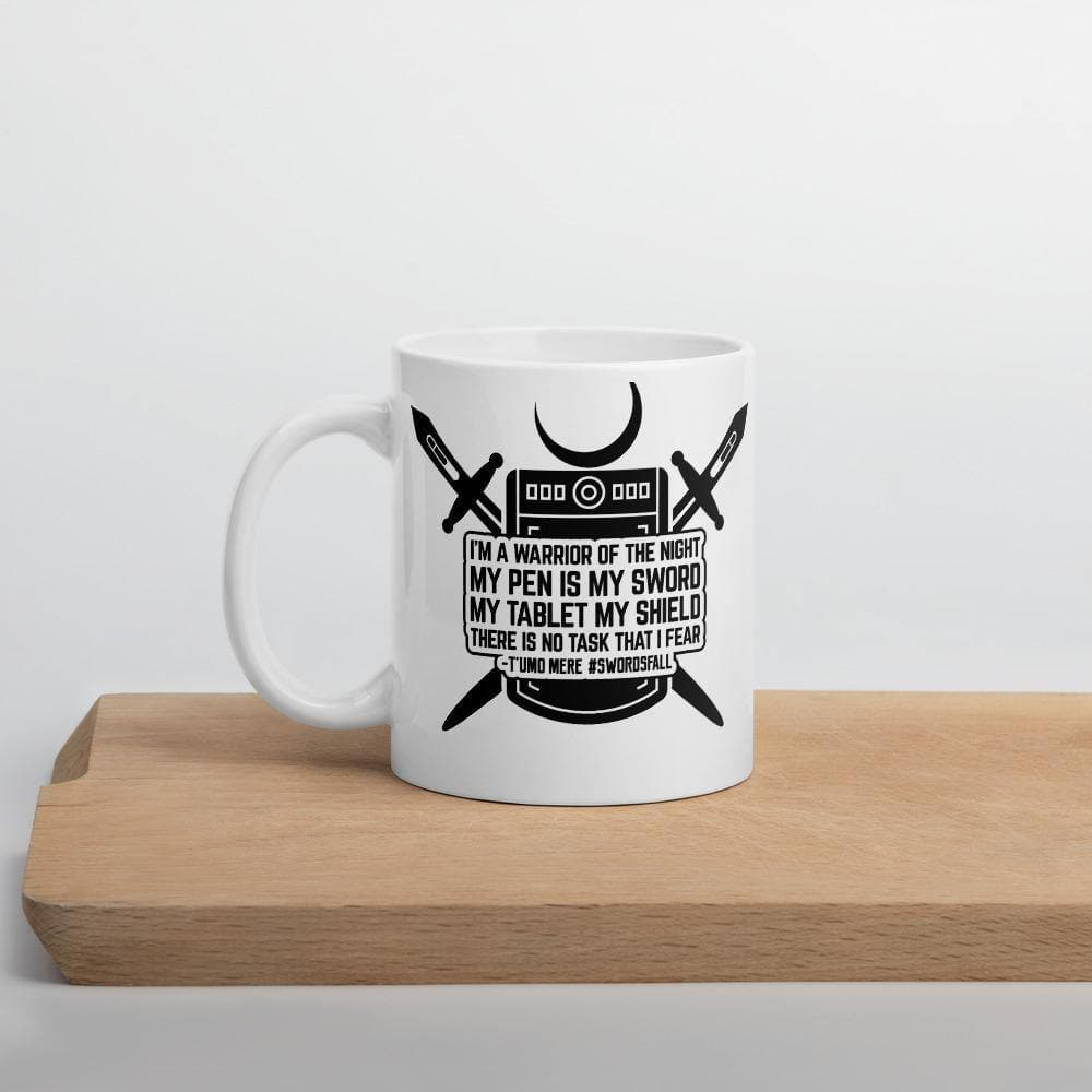 Warrior of the Night Quote Mug - Swordsfall